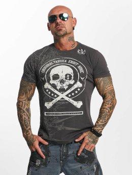Yakuza t-shirt Face grijs
