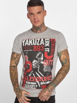 Yakuza t-shirt Jerk it out grijs