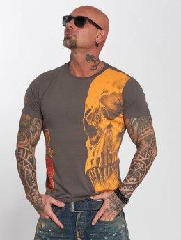 Yakuza t-shirt Skull grijs