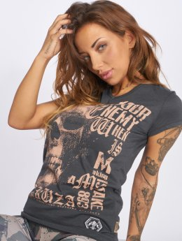 Yakuza t-shirt Diamond Skull grijs