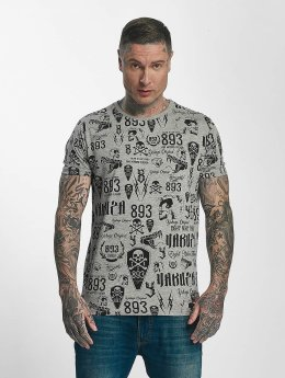 Yakuza T-Shirt Allover Label gris