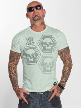 Yakuza T-Shirt Skull Collection grün