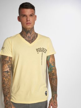 Yakuza T-Shirt Skull V02 jaune