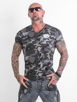 Yakuza T-shirt Script Skull  kamouflage