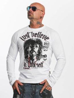 Yakuza T-Shirt manches longues Just Believe blanc