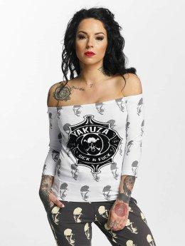 Yakuza T-Shirt manches longues Sick N Fuck Off Shoulder blanc
