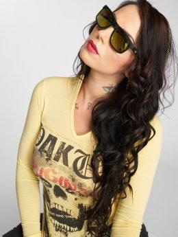 Yakuza T-Shirt manches longues Skull Hooded jaune