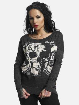 Yakuza T-Shirt manches longues Skull Script Two Face noir