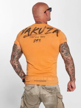 Yakuza t-shirt Burnout oranje