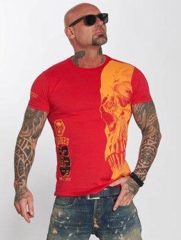 Yakuza t-shirt Skull rood