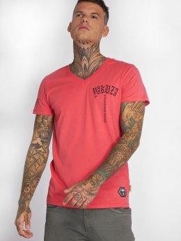 Yakuza T-shirt Skull V02 rosa