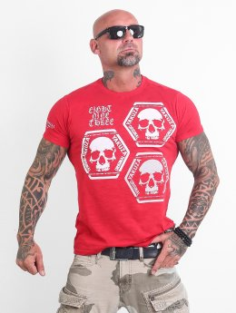 Yakuza T-Shirt Skull Collection rouge