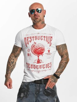 Yakuza t-shirt Destructive Tendencies wit