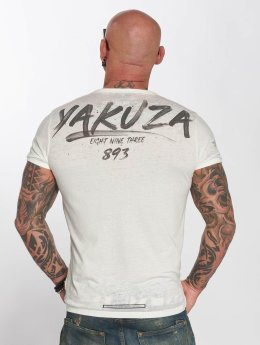 Yakuza t-shirt Burnout wit