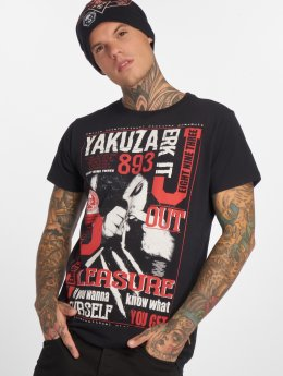 Yakuza t-shirt Jerk it out zwart