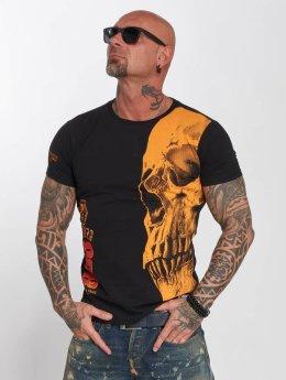 Yakuza t-shirt Skull zwart