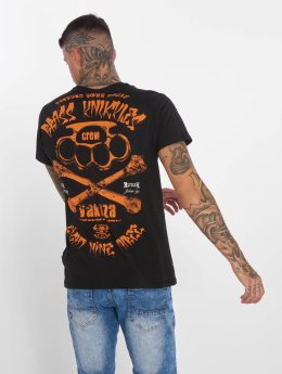 Yakuza T-Shirty Brass Knuckles Crew czarny