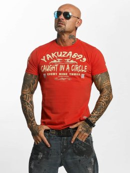 Yakuza T-Shirty Caught In A Circle czerwony