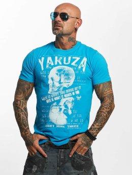 Yakuza T-Shirty Love Hate niebieski