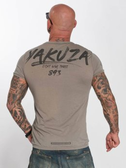 Yakuza T-Shirty Burnout szary