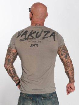 Yakuza T-Shirty Burnout  szary