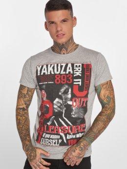 Yakuza T-skjorter Jerk it out grå