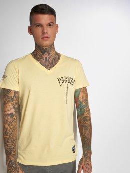 Yakuza T-skjorter Skull V02 gul