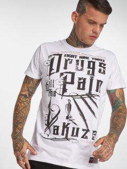 Yakuza T-skjorter PAIN hvit