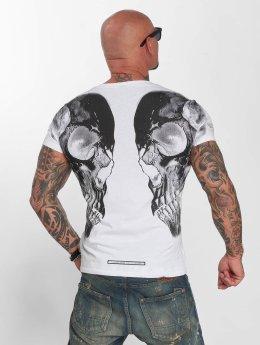 Yakuza T-skjorter Skull V02 hvit