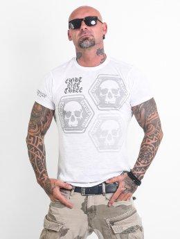 Yakuza T-skjorter Skull Collection hvit