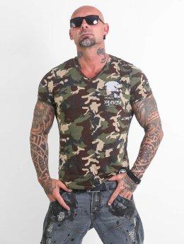 Yakuza T-skjorter Script Skull kamuflasje