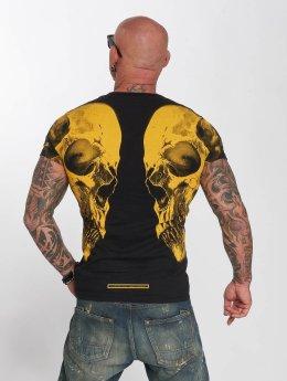 Yakuza T-skjorter Skull V02 svart