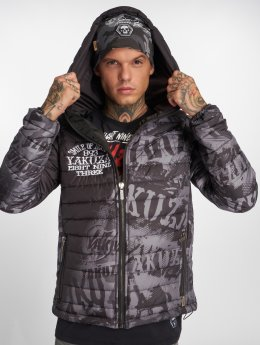 Yakuza Talvitakit Allover Label Quilted musta