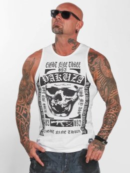Yakuza Tank Tops Kiss My XXX blanco