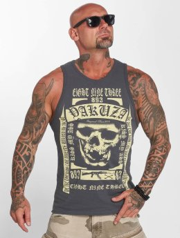 Yakuza Tank Tops Kiss My XXX gray