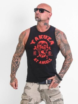 Yakuza Tank Tops Screaming Skull musta