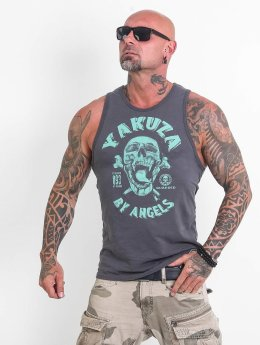 Yakuza Tank Tops Screaming Skull sininen