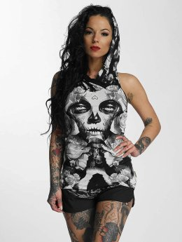 Yakuza Tank Tops Mexican Rose Hooded  weiß