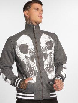 Yakuza Veste mi-saison légère Skull V02 gris