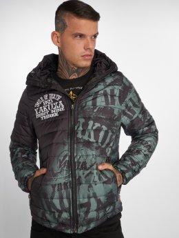 Yakuza winterjas Allover Label Quilted zwart