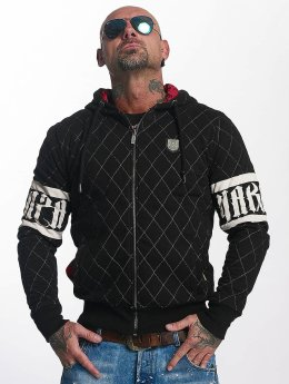 Yakuza Zip Hoodie Punx Quilted black
