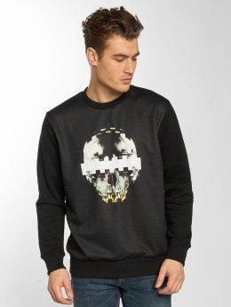 Yezz Pullover Consored Skull schwarz