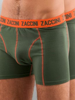 Zaccini boxershorts Uni 2-Pack olijfgroen