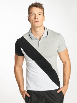 Zayne Paris Poloshirt Stripe grau