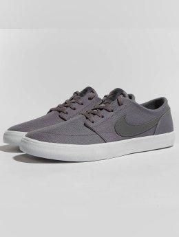 Nike SB Sneakers SB  Solarsoft Portmore II Canvas Skateboarding grey