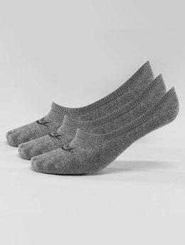 Nike Sukat 3-Pack Footie harmaa