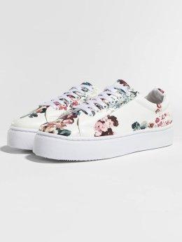 Pieces Sneaker psMoa Flower weiß