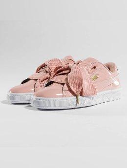 Puma Zapatillas de deporte Basket Heart Patent rosa