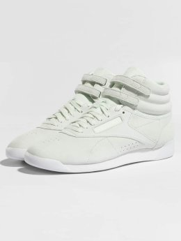 Reebok Freestyle Hi Nubuk Sneakers Opal/White