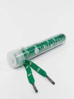 Tubelaces Lacet White Flat Cash vert
